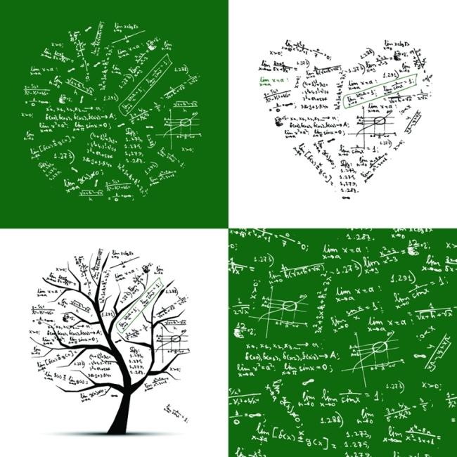 矢量创意手写数学公式图形背景矢量图免费下载_格式 ... : 数学中1 方程式 : 数学