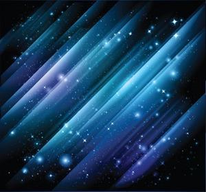 矢量璀璨星空流线素材