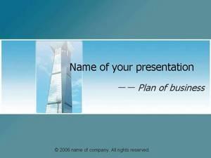 高大建筑商务计划PPT模板
