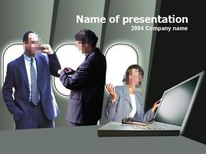 商务人员商务PPT模板