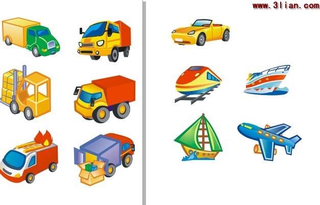 交通图标 汽车 火车 飞机素材矢量图免费下载(图片:)
