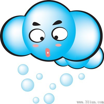卡通多云表情图标图片