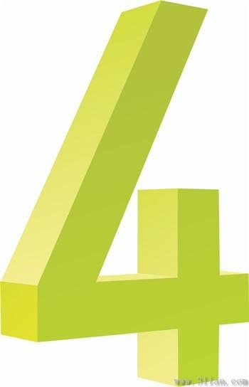 数字4图标素材