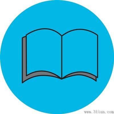 蓝色书本图标图片
