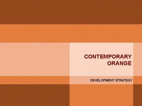 橙色主题商务PPT模板
