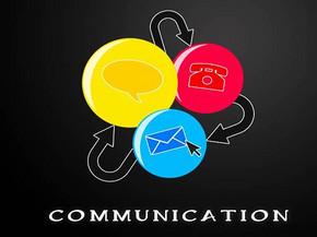 沟通三原色商务PPT模板