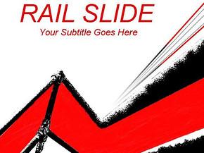 红黑线条PPT模板免费下载
