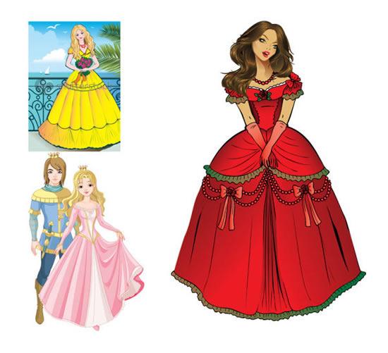 王子与公主 矢量图 免费 下载 千图网www.58pic