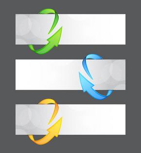 矢量创意环形箭头横幅素材