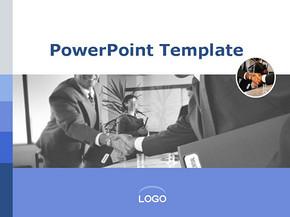 签订商务合同商务PPT模板