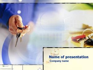 商务钥匙电子商务PPT模板