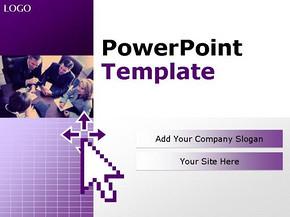 紫色商务会议商务PPT模板