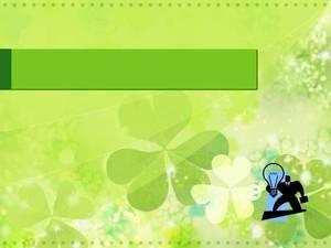 淡绿背景春天气息PPT模板