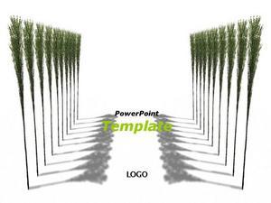 清新自然绿色的毕业设计ppt模板免费下载