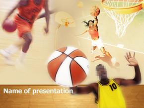 篮球运动PPT模板免费下载