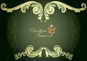 欧式花纹边框背景素材