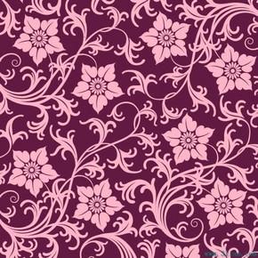 紫红花卉底纹