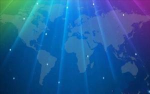 世界地图科技背景PPT幻灯片