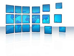 动态电视墙背景ppt模板