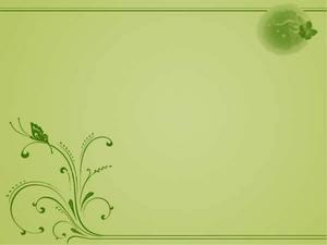 优雅绿色背景ppt模板