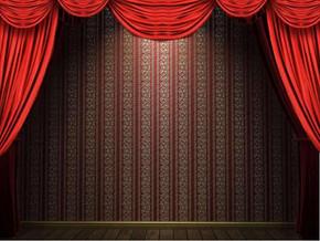 舞台幕布动态背景ppt模板