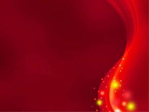 潮流酷炫红色背景ppt模板
