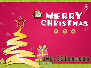 幼儿园圣诞节动态PPT模板