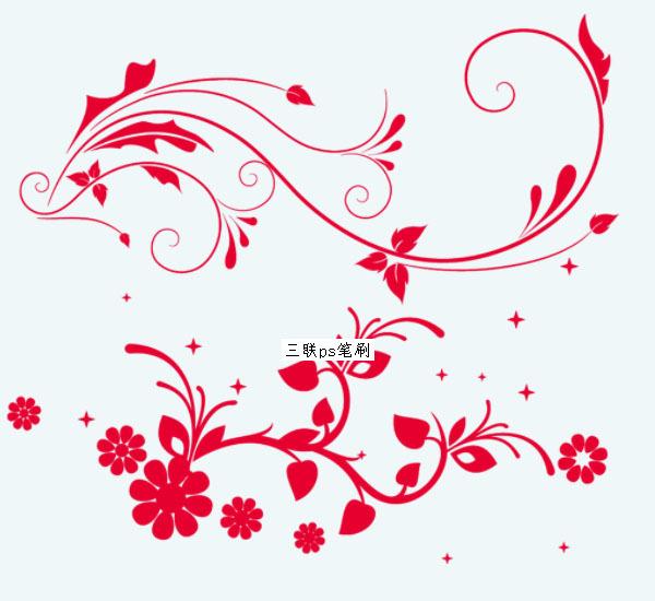 鲜花藤蔓ps笔刷