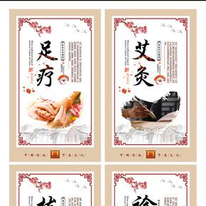 2017简约中国风中医养生系列展板