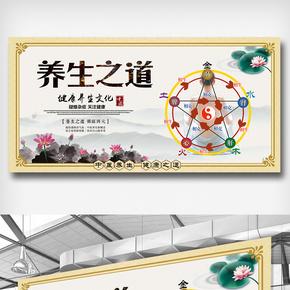 中国风水彩医护风采展板图