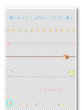 彩色线条花纹边框元素