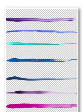 墨迹线条花纹边框元素