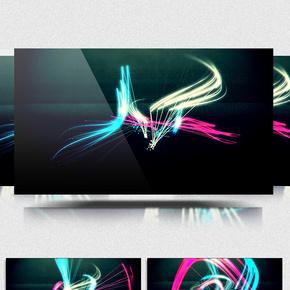 空间线条变换背景视频