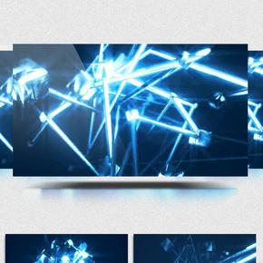 空间魔幻金属线条变换背景视频