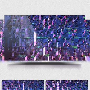 4K方块空间虚拟动画舞台led背景