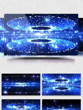4K宇宙粒子星空动感科技科幻舞台led背景