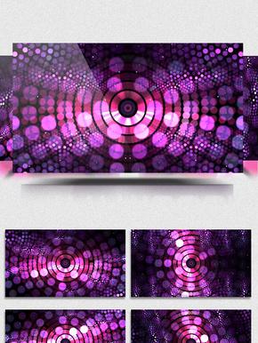 4K紫色旋转光斑质感特效背景