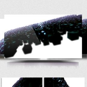 玻璃质感方块合成动感流水线特效背景