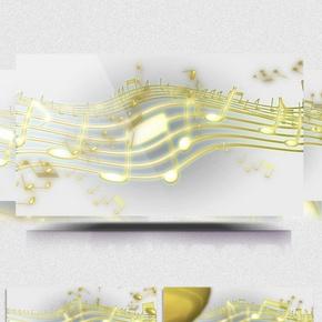 金色音谱音标动感特效舞台led背景