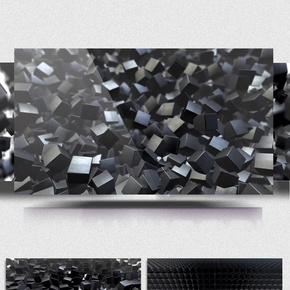 金属银色方块动感组合特效科技背景