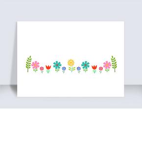 花朵動態分割線gif動圖