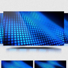 蓝色科幻舞台背景视频