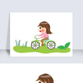 骑自行车卡通人物