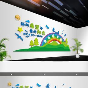 幼儿园早教班培训班儿童卡通文化墙