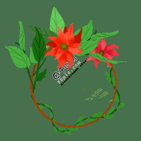 绿色枝杈花圈文本背景传染媒介