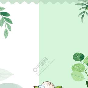 夏日甜品布丁冰淇淋烘培背景海报矢量图
