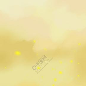 简约黄色渐变海报背景