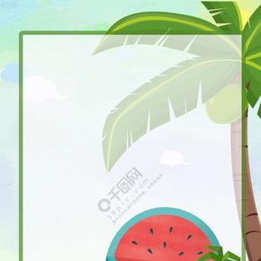夏季海边度假背景图片