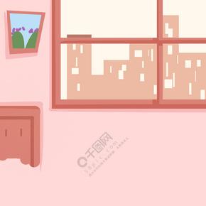 红色装饰房子免抠图