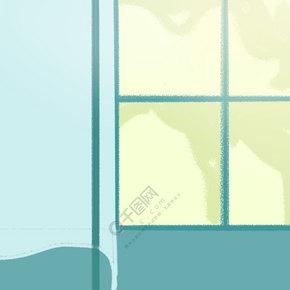蓝色的家具环境免抠图